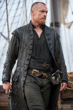 Even with a crew cut, Toby Looks So Good! » Toby Stephens as Captain Flint - Black Sails Season 3 » Starz.com