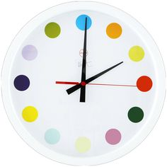 Spot Clock by Damien Hirst | From a unique collection of antique and modern clocks at https://www.1stdibs.com/furniture/more-furniture-collectibles/clocks/