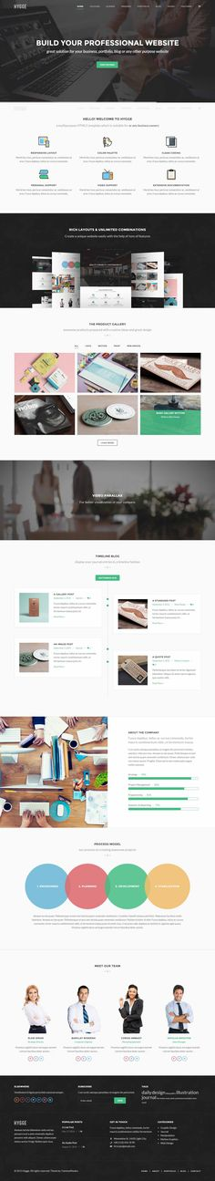 Hygge is a flat and responsive WordPress Theme with a clean and professional design which will be a great solution for your business, portfolio, blog or any other purpose website.