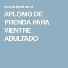 APLOMO DE PRENDA PARA VIENTRE ABULTADO