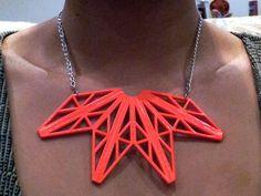 DIY  Neon Cut -Out Necklace