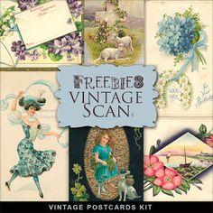 New Freebies Vintage Kit