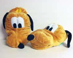 Disney Pluto Adult Plush Slippers House Shoes Scuffs Size 9-10 $29.99