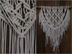 Kuvalliset ohjeet: makramee seinävaate Diy Interior, Some Ideas, Knots, Diy And Crafts, Knit Crochet, Projects To Try, Weaving, Crafty, Knitting