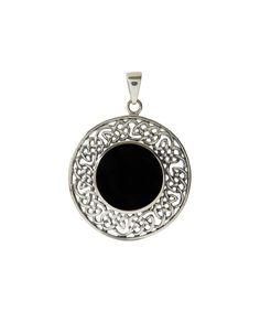 Onyx & Sterling Silver Celtic Knot Pendant by Seodra Designs #zulily #zulilyfinds