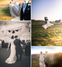 A DIY Marquee Wedding At Sandridgebury Farm St Albans, Purple and Green themed, Bride in Violet by Jenny Packham