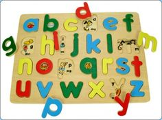 Wooden Alphabet puzzle    This educational wooden alphabet puzzle with matching pictures and words teaches letter recognition, early phonics and first reading skills. Puzzles help children with their coordination and fine motor skills and in this alphabet puzzle the chunky pieces are easy to grip for smaller hands.    View Here > http://www.smartstart-toys.co.uk/early-learning/wooden-alphabet-puzzle.html