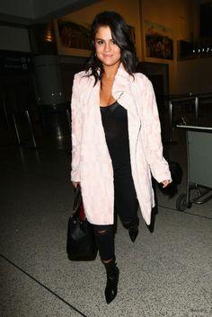 Selena Gomez Style – at LAX Airport, May 2015