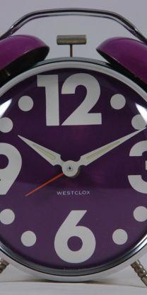 Good morning purple alarm clock
