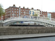 The Ha'penny (Liffey) Bridge in Dublin. OK--didn't hate this one too much. It was so cute.