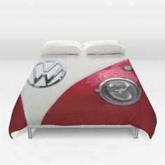 VW Split Screen Duvet Cover by Alice Gosling Car Volkswagen, Volkswagen Transporter, Vw T1, T2 Bus, Bus Camper, Vw Accessories, Convertible, Vw Camping, Vw Classic