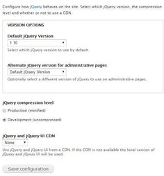 [ #Drupal ]- How to Change the jQuery Version in Drupal 7