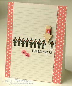 'Missing U' card❣ Lucy Abrams • Flickr