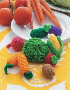 Вязаные крючком продукты. Часть 8: Овощи