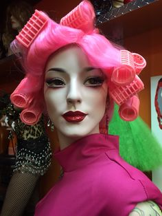"Rootstein mannequin Faye, repainted by David Costa (Dash-N-Dazzle) with makeup inspired by The makeup worn by Gwen Stefani in the NO DOUBT video music video ""New""."