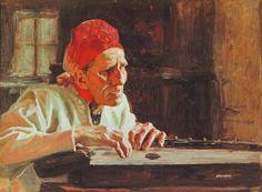 Albert Edelfelt - Lari Paraske sings crying 1893