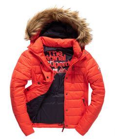 Shop Superdry Womens Fuji Slim Double Zip Hood Jacket in Fire Engine Red. Buy now with free delivery from the Official Superdry Store. Mens Parka Jacket, Hooded Jacket, Ski Fashion, Teen Fashion, Superdry Coats, Superdry Fashion, Women's Jackets, Winter Jackets, Coats For Women