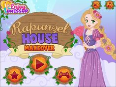 Play the latest Enjoydressup game called Rapunzel House Makeover and help your favorite princess clean the tower she is locked in! Games For Girls, Rapunzel, Your Favorite, Manga, Anime, House, Art, Art Background, Home