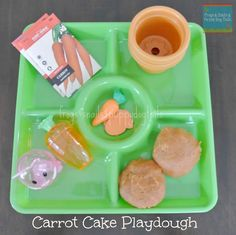 Frogs & Snails & Puppy Dog Tails (FSPDT): Carrot Cake Playdough To Go With The Run Away Bunny{ Dig Into Exploring Underground Animals}