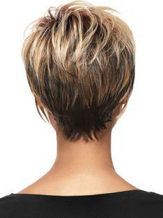 Hair Beauty - Women Blonde Ombre Inclined Bang Fluffy Short Straight European American Synthetic Wig - One Size Short Layered Haircuts, Short Hairstyles For Women, Hairstyles Haircuts, Pixie Haircuts, Wedge Hairstyles, Short Wedge Haircut, Stacked Hairstyles, Medium Thin Hairstyles, Short Hair Cuts For Fine Thin Hair