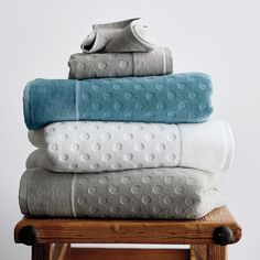 Dot Supima® Towel at The Company Store - Bath - Bath Linens - Bath Towels - Wash