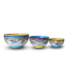 Look at this Zanzibar Mixing Bowl Set on #zulily today!