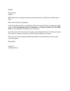 Flu shot exemption letter sample free professional resume to exempt a child vaccination exemption letter sample immunization religious vaccination exemption letter sample immunization religious exemption letter altavistaventures Gallery