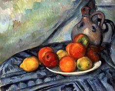 Fruit and a Jug on a Table (1890-4) Paul Cézanne