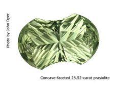 Prasiolite AKA Green Amethyst AKA Green Quartz.  It's all the same y'all!