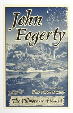 John Fogerty Blue Moon Swap Tour 1997 May 18 The Fillmore San Francisco Phone Pole Poster