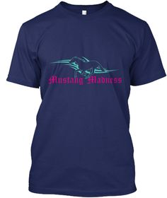 Mustang Madness Navy T-Shirt Front