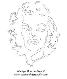 stencil de marilyn monroe - Pesquisa Google