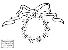 wreath embroidery