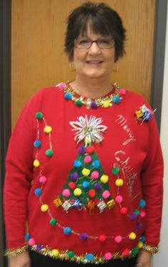 48 Best Ugly Christmas Sweater Ideas For Your Upcoming Parties - PostDecor - Emma Lee home Homemade Ugly Christmas Sweater, Diy Ugly Christmas Sweater, Christmas Diy, Christmas Jumpers, Xmas Sweaters, Xmas Shirts, Funny Sweaters, Kids Ugly Sweater, Diy Weihnachten