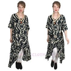 SUNHEART Lagenlook HI-LOW MERMAID HERA ASYM TUNIC OR DRESS SML-MED-XL-1X-2X-3X #SUNHEARTBOHOGODDESSCLOTHING #lagenlooktunicordress #ANYTIME
