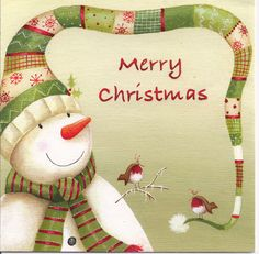 Merry Christmas Snowman by Mailbox Happiness-Angee at Postcrossing, via Flickr