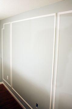 IHeart Organizing: Basement Progress:Wall  Moulding Panels