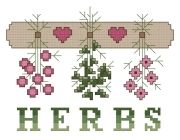 Herbs - Downloadable counted cross-stitch pattern from Thomas Beutel Original Designs: $3.49