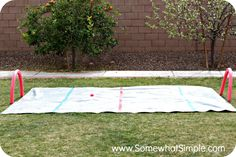 How COOL is this for the backyard?! It's like a Slip and Slide for hockey fans!