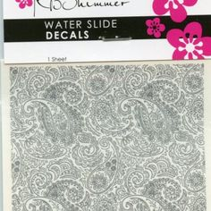 KB Shimmer Gray Paisley Water Slide Decals