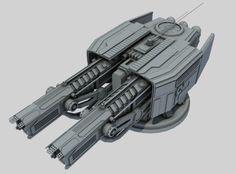 ion turret class sb1 3d model max obj 3ds fbx ma mb 1
