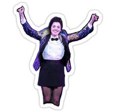"""""""Prom Janis from Mean Girls the musical"""" Stickers by LovegoodCosplay Mean Girls Janis, Prom Girl, Cool Stickers, Musical Theatre, Celebrity Crush, Good People, Weed, Musicals, Broadway"""