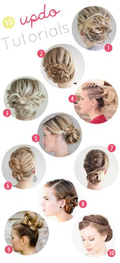 10 great hair updo tutorials for this fall