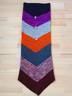 """I like my knitting mindless and simple, preferably without any purl stitches. But I also want the excitement of vibrant colors –and a useful, versatile result! If you are like me, you will love """"Tubularity"""": It is a long tube (3-dimensional) that you can either pull over your head and wear as very warm and cozy neckwarmer (and hood, if you like). Alternatively, you can sling it around and fasten it with a button. The color combination is hand-picked by Miss Babs, who offers her ultrasoft…"""