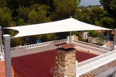 Shade for your roof terrace.     Purpose Made Shade Sail, colour Desert Sand