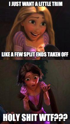 when I go to the hair salon...