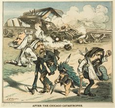 Joseph Keppler American, 1638-1894, After the Chicago Catastrophe, from Puck