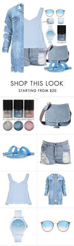 """""""Spring Break: Powder Blue Edt."""" by thea-bleasdille ❤ liked on Polyvore featuring Steve Madden, Native Shoes, Boohoo, Lacoste, Ray-Ban, denim, springbreak and powderblue"""
