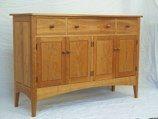 146cm Sideboard Dresser Base Free Standing Kitchen Cabinet Unit Cupboard Free Standing