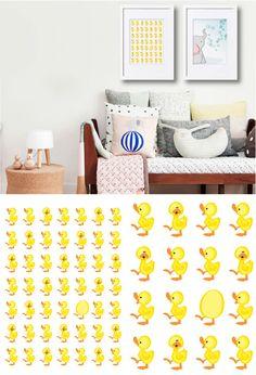 Elifun Art Print Ducks Ducks are cute and these are fun too!